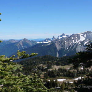 Mountain View - from Sunrise Lodge, Mount Rainier National Park